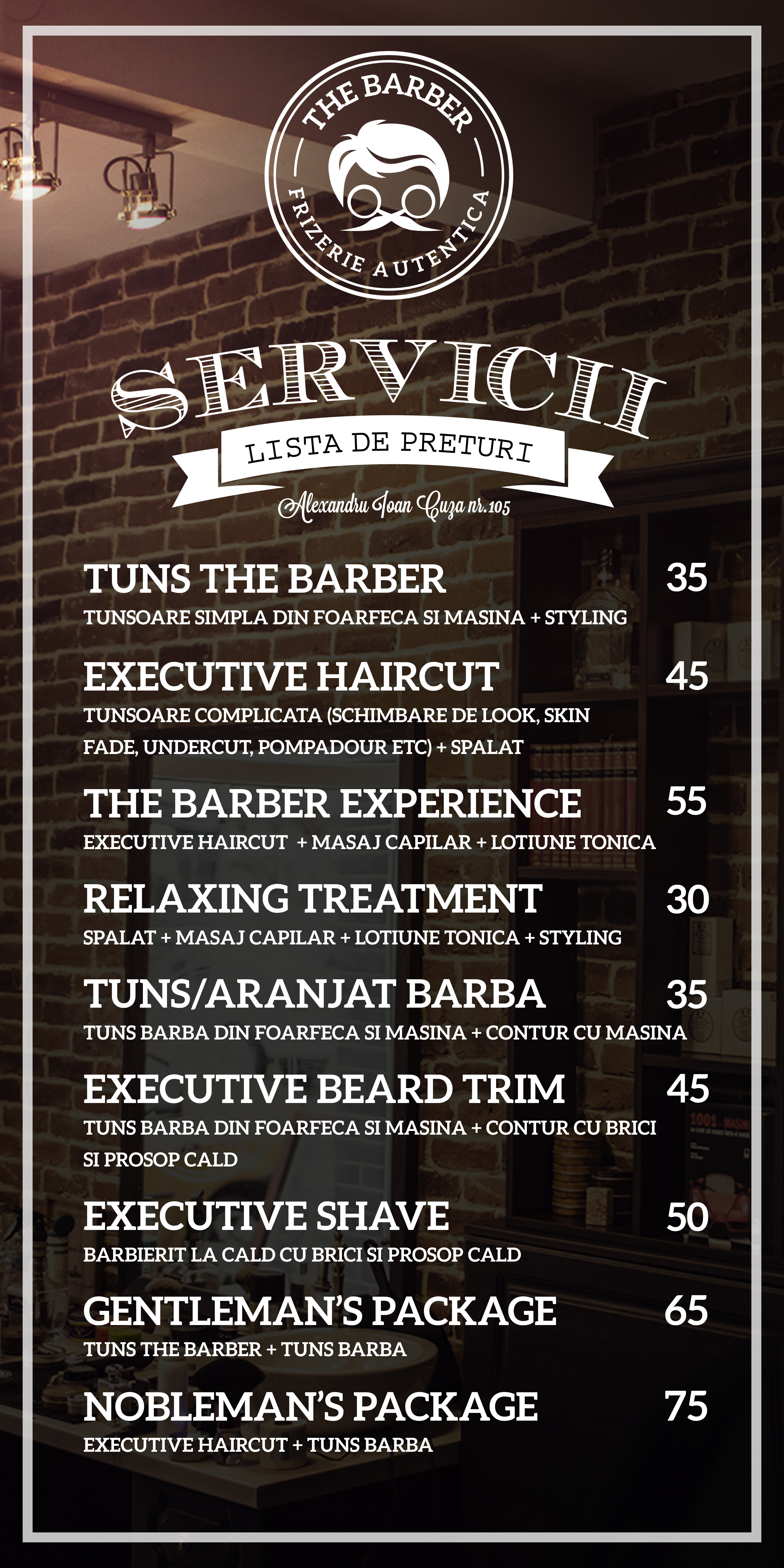 The Barber Barber Shop Frizerie Bucuresti Tuns Barba Contur